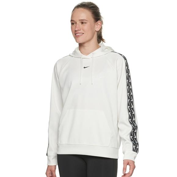Nike Sportswear Logo Pullover Sleeve Tape Hoodi NWT
